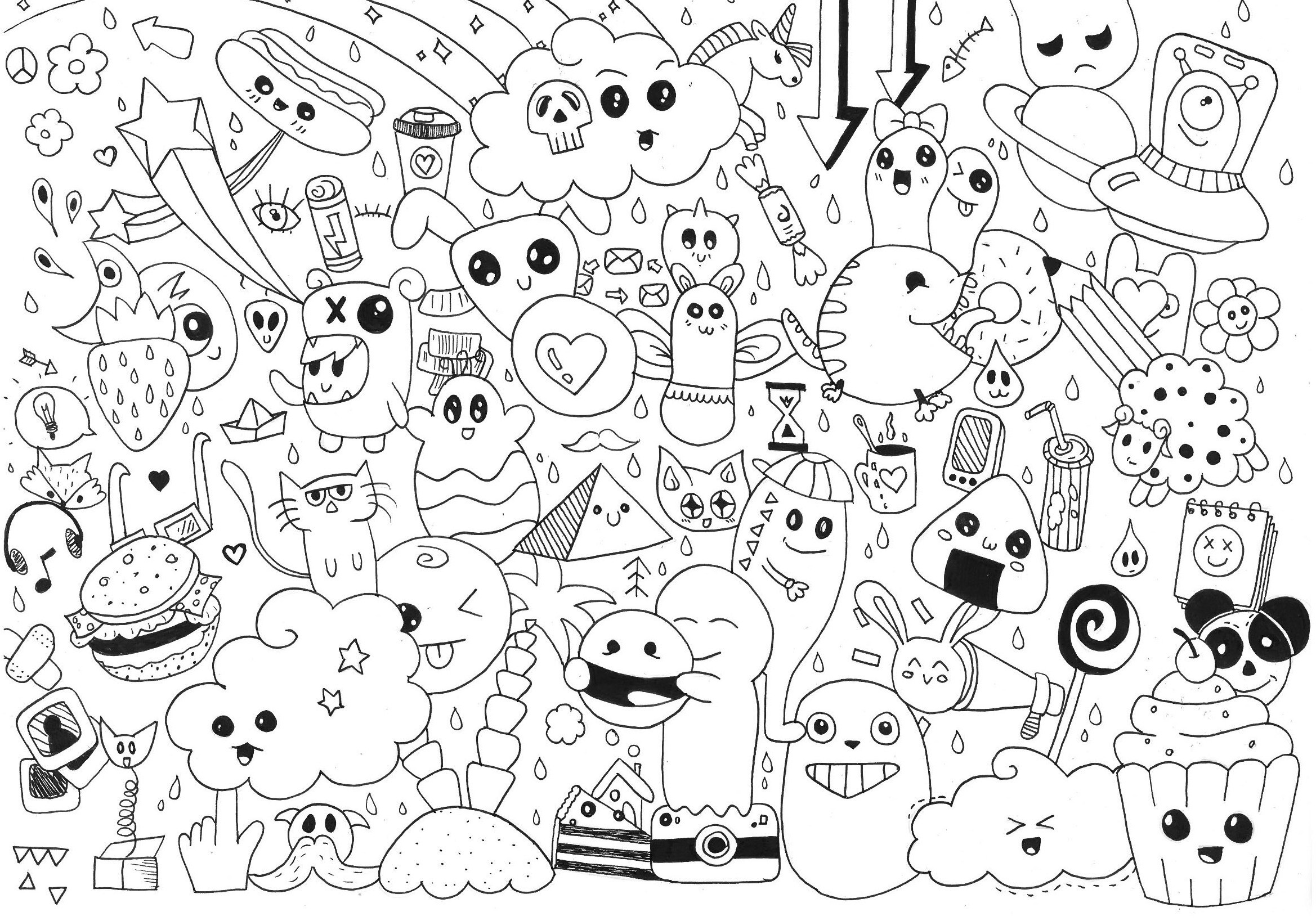 Coloring Ideas : Coloring Page Amazing Doodle Art Pages Gaming - Free Printable Doodle Art Coloring Pages