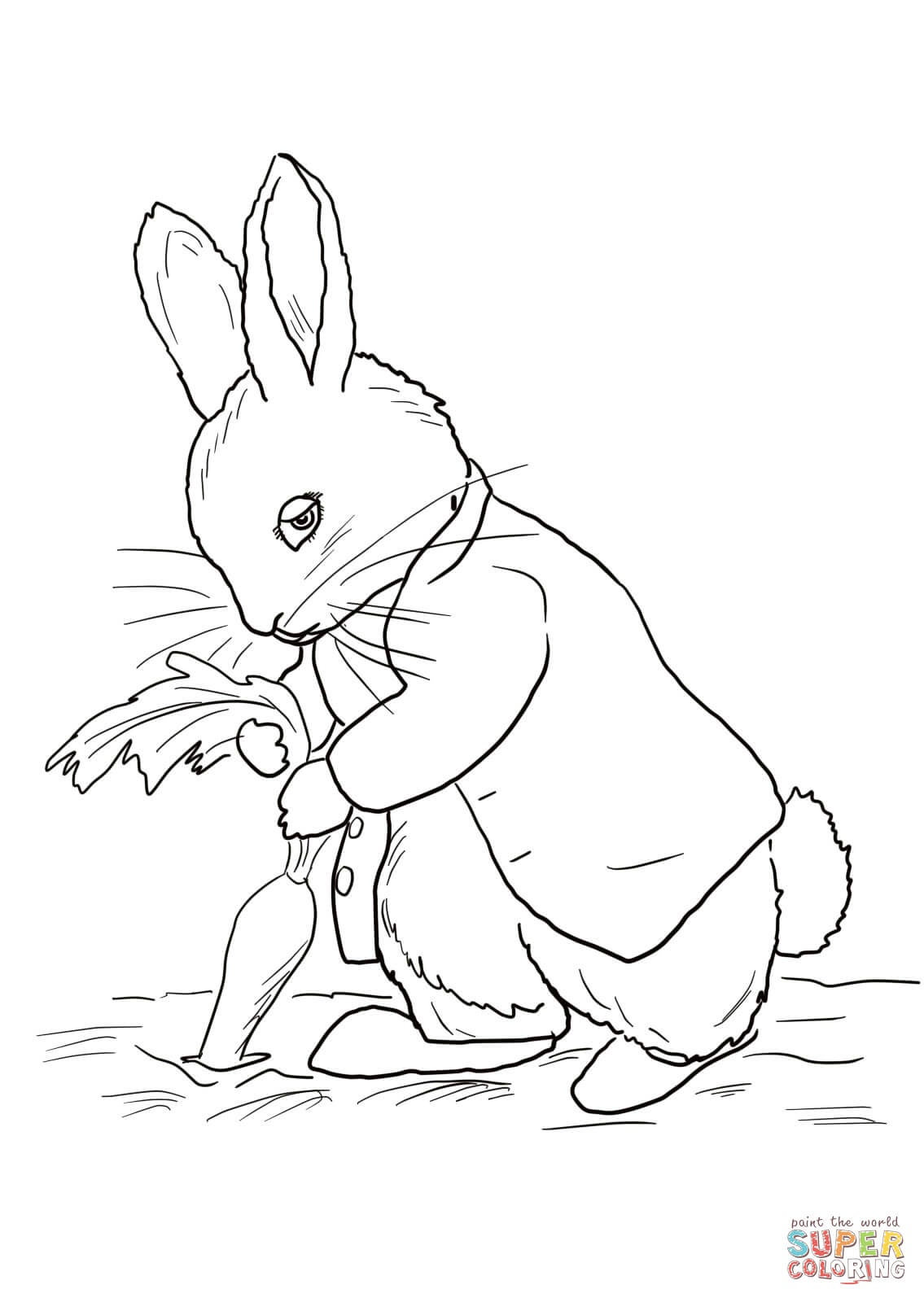 Coloring Ideas : Peter Rabbit Stealing Carrots Coloring Page Free - Free Printable Peter Rabbit Coloring Pages