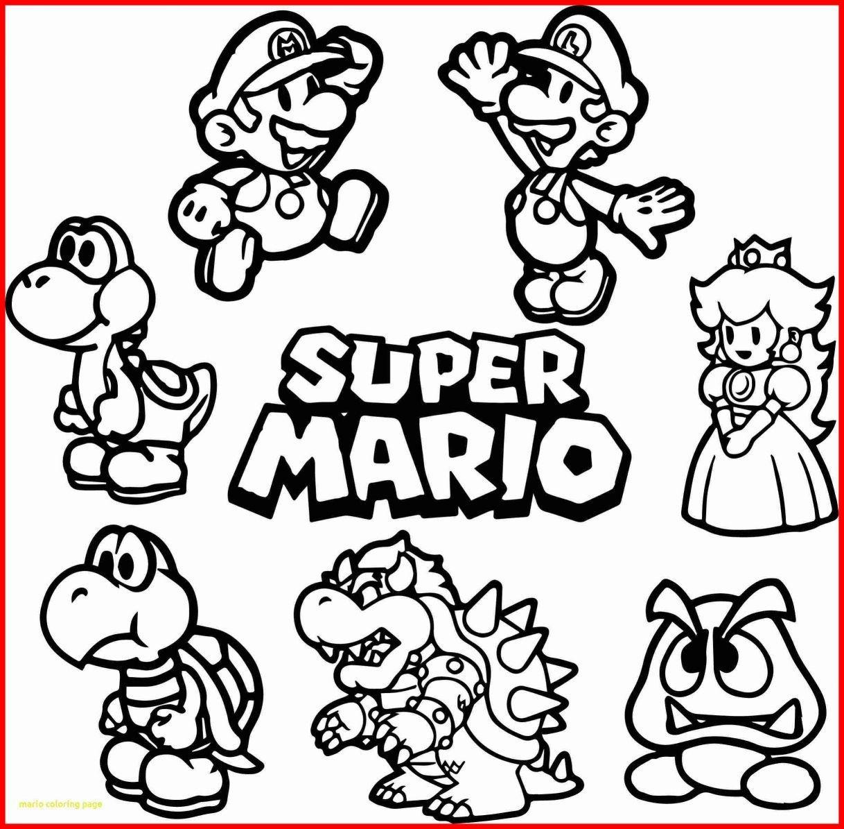 Coloring Ideas : Super Mario Bros Coloring Pages Printable At - Mario Coloring Pages Free Printable