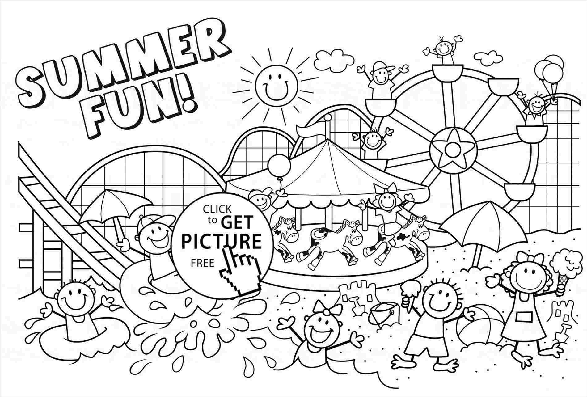 Free Printable Summer Coloring Pages For Adults | Free ...