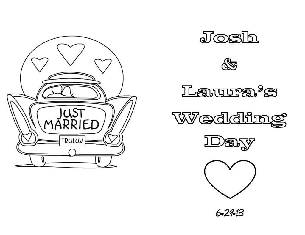 Wedding Coloring And Activity Book - Free Printable ...