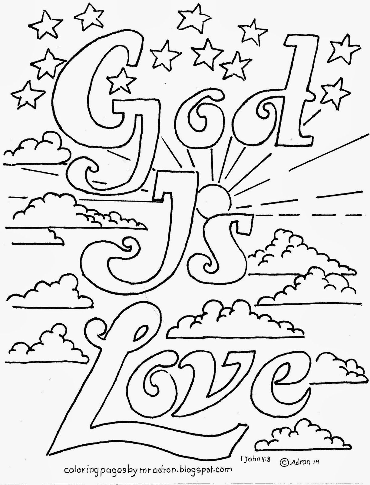 Coloring Pages For Kidsmr. Adron: God Is Love Printable, Free - Free Printable Sunday School Coloring Sheets