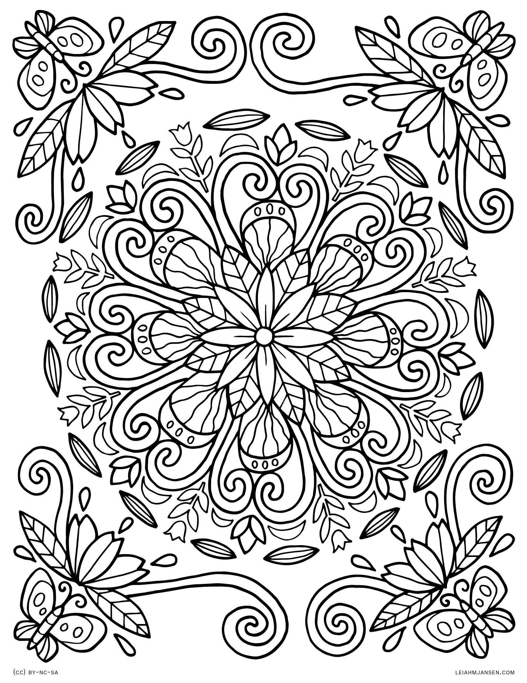 Coloring Pages - Free Printable Nature Coloring Pages For Adults