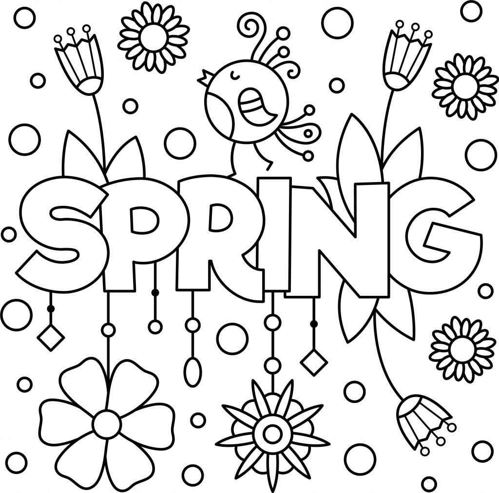 Coloring Pages : Outstanding Spring Coloring Pagese Printable - Free Printable Spring Pictures To Color