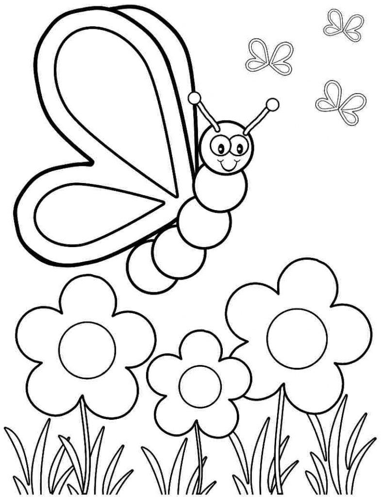 Coloring Pages: Spring Coloring Printable Within Best Free - Free Printable Spring Pictures To Color
