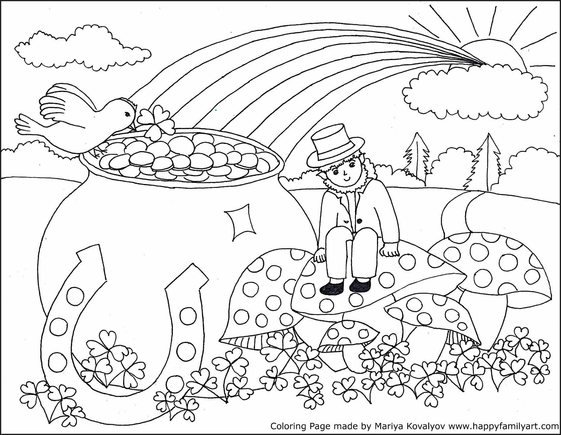Coloring Pages : St Patricks Dayng Pages For Kids With Medquit Free - Free Printable St Patrick Day Coloring Pages