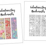 Coloring Valentine's Day Bookmarks Free Printable   Free Printable Valentine Bookmarks