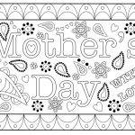Colouring Mothers Day Card Free Printable Template   Free Printable Mothers Day Card From Dog