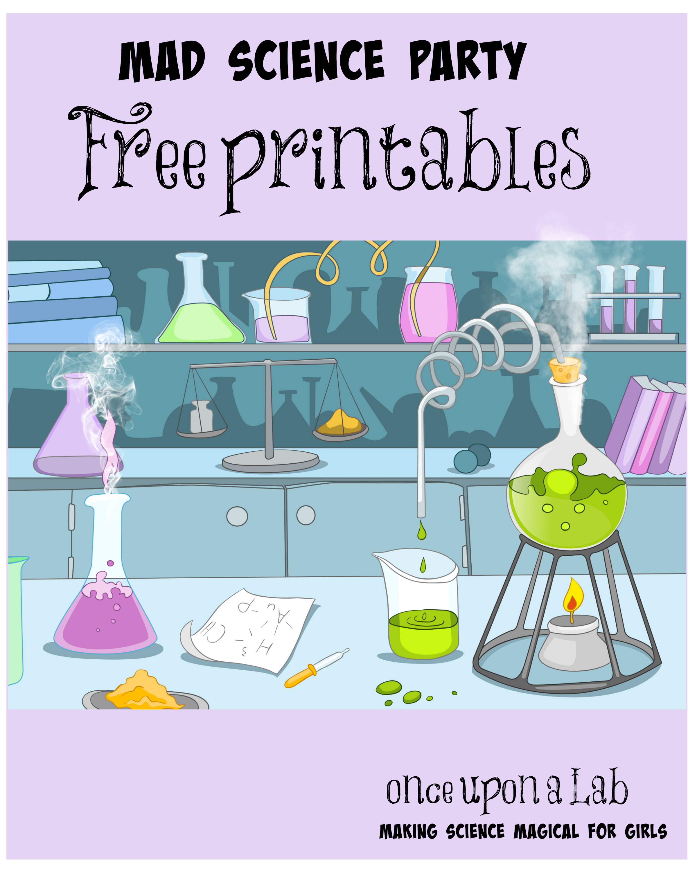 Complete Free Set Of Printables For A Mind Blowing Birthday Party - Free Printable Science Birthday Party Invitations