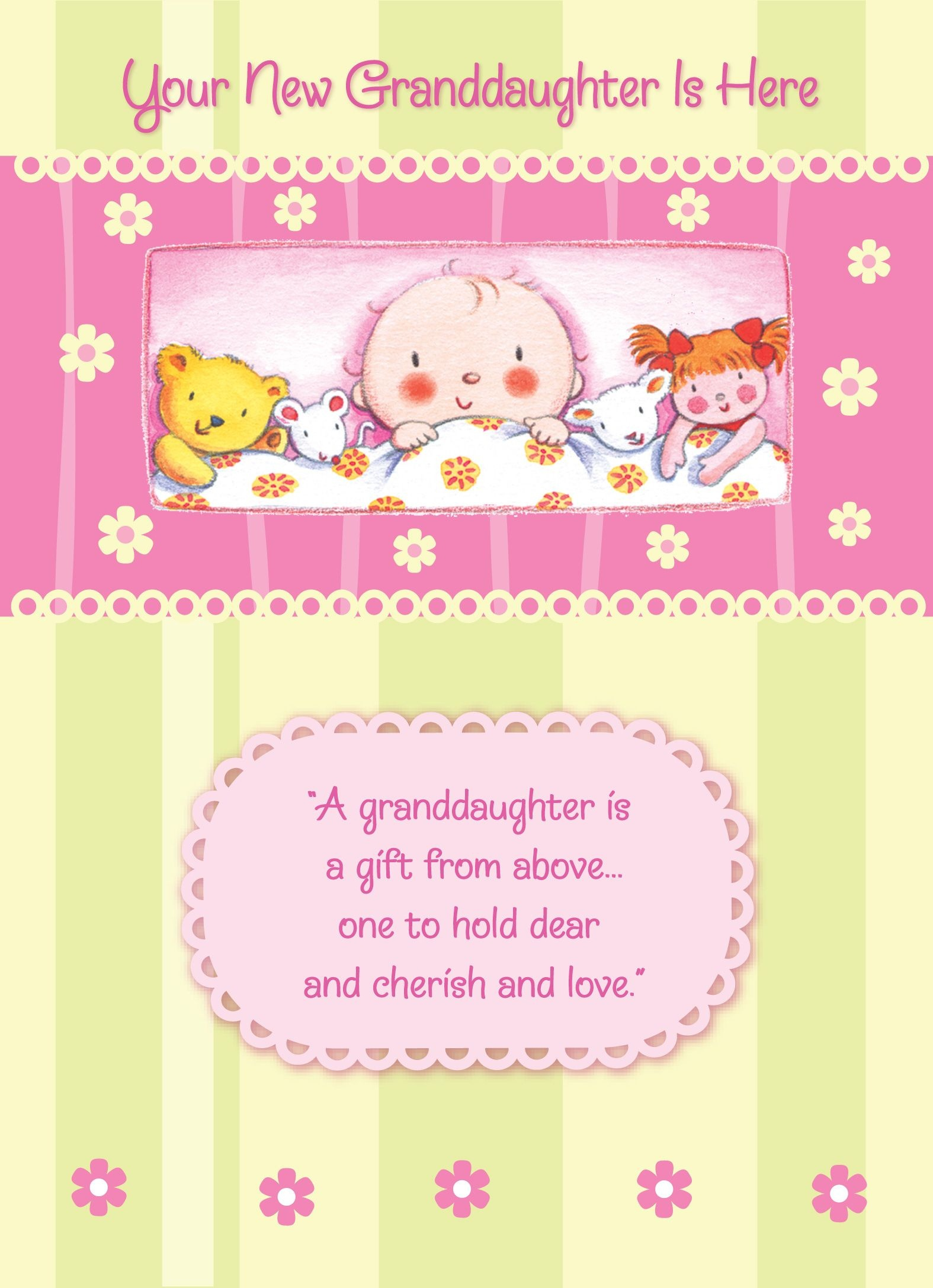 Congratulations On Your New Granddaughter. #babygirl #babyshower - Congratulations On Your Baby Girl Free Printable Cards