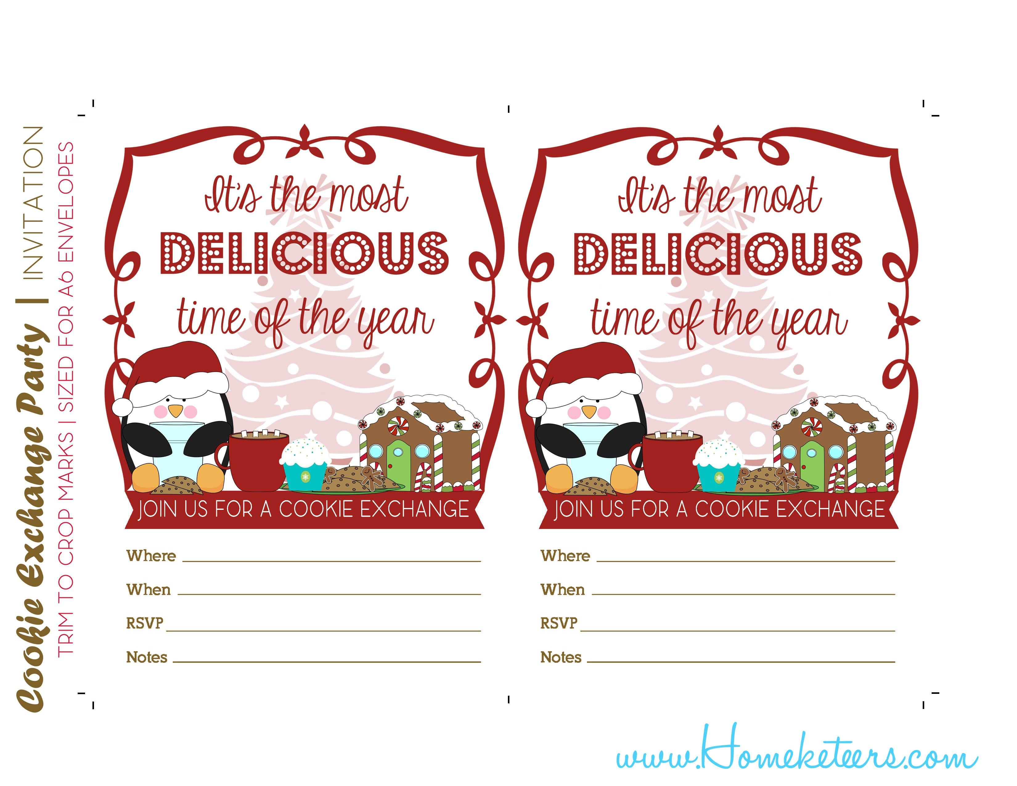 Cookie Exchange Invitation Templates New Christmas Cookie Party - Free Christmas Cookie Exchange Printable Invitation