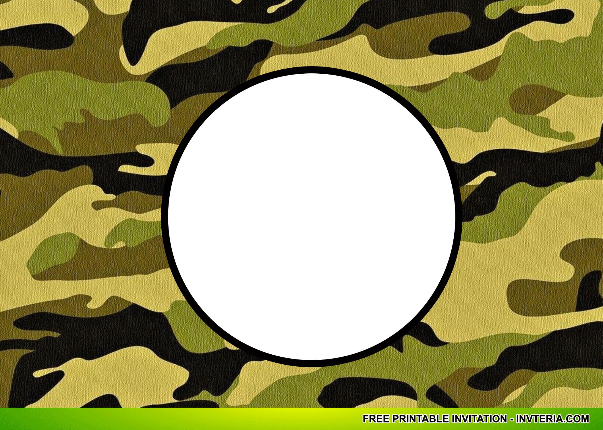 Cool Best Free Printable Camo Birthday Invitations Idea   Invitation - Free Printable Camouflage Invitations