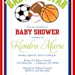 Cool Free Template Sport Themes Baby Shower Invitations | Bagvania   Free Printable Sports Birthday Invitation Templates