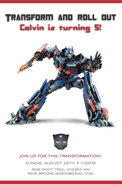 Cool Transformer Birthday Invitations | Bagvania Invitation In 2019 - Transformers Party Invitations Free Printable