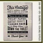 Cottage Svg Bathroom Sign Septic System Do Not Flush Svg | Etsy   Free Printable Do Not Flush Signs