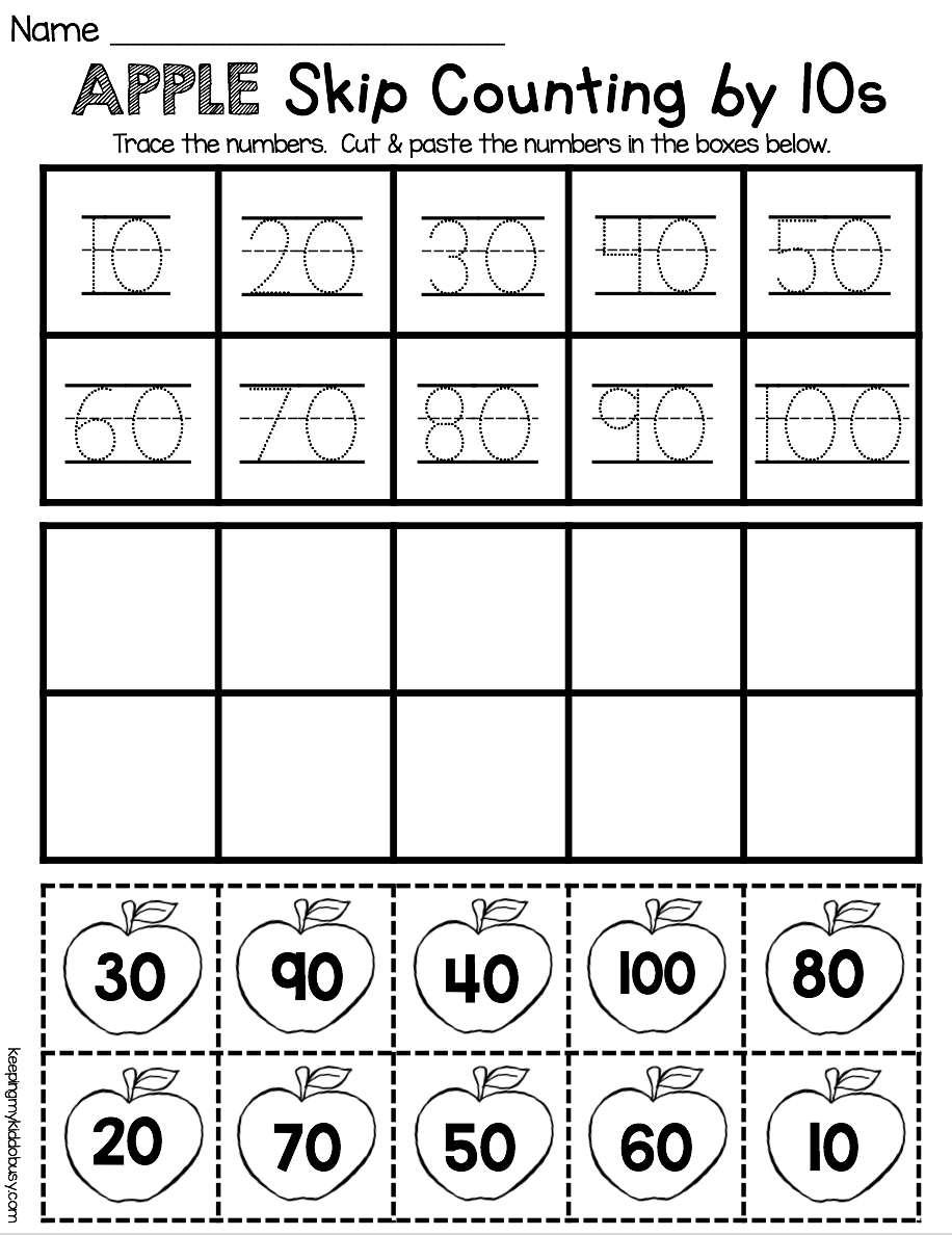 Counting And Cardinality Freebies | Education | Kindergarten Math - Free Printable Skip Counting Worksheets