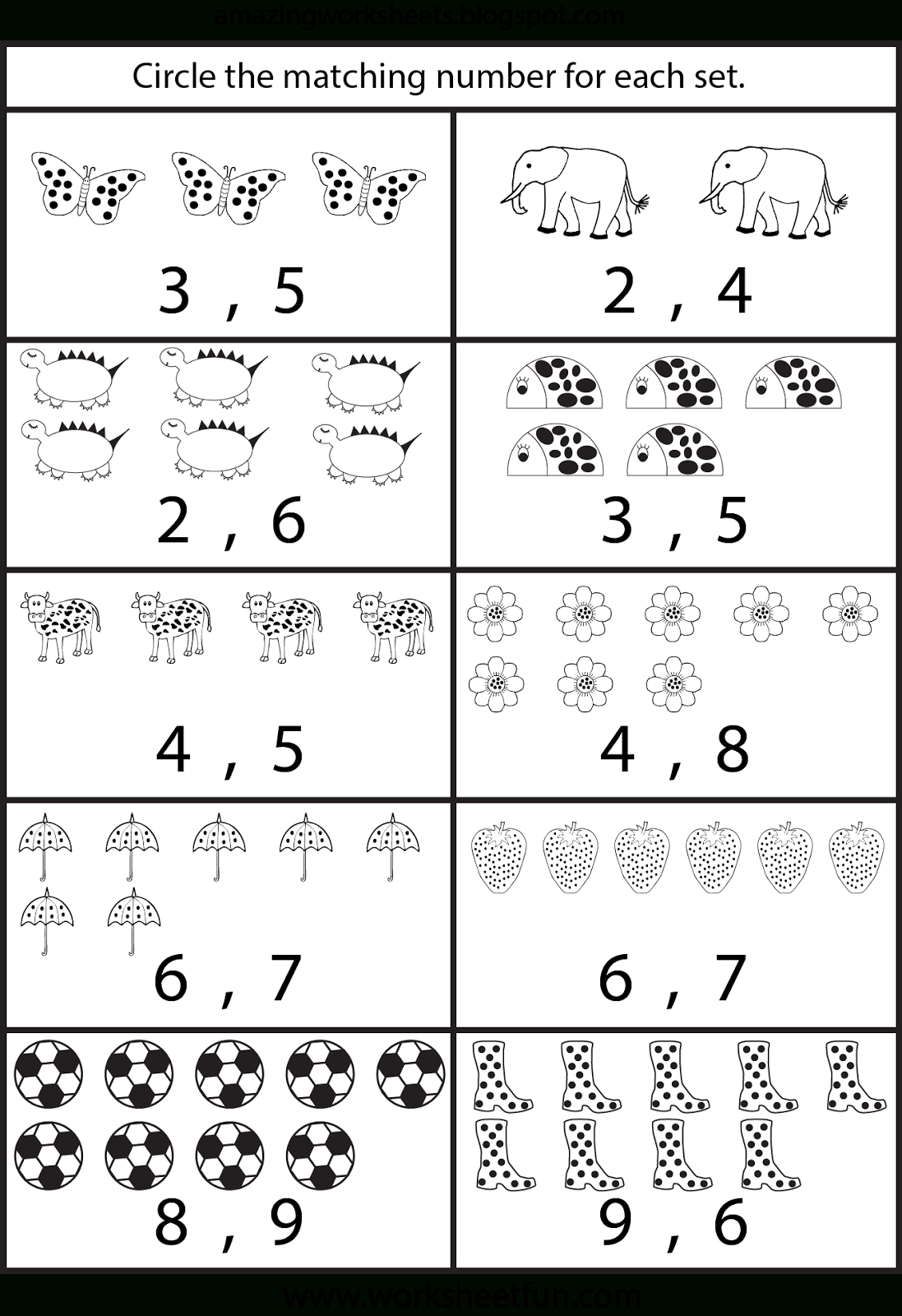 Counting Worksheets For Kindergarten … | Learning | Count… - Free Printable Counting Worksheets