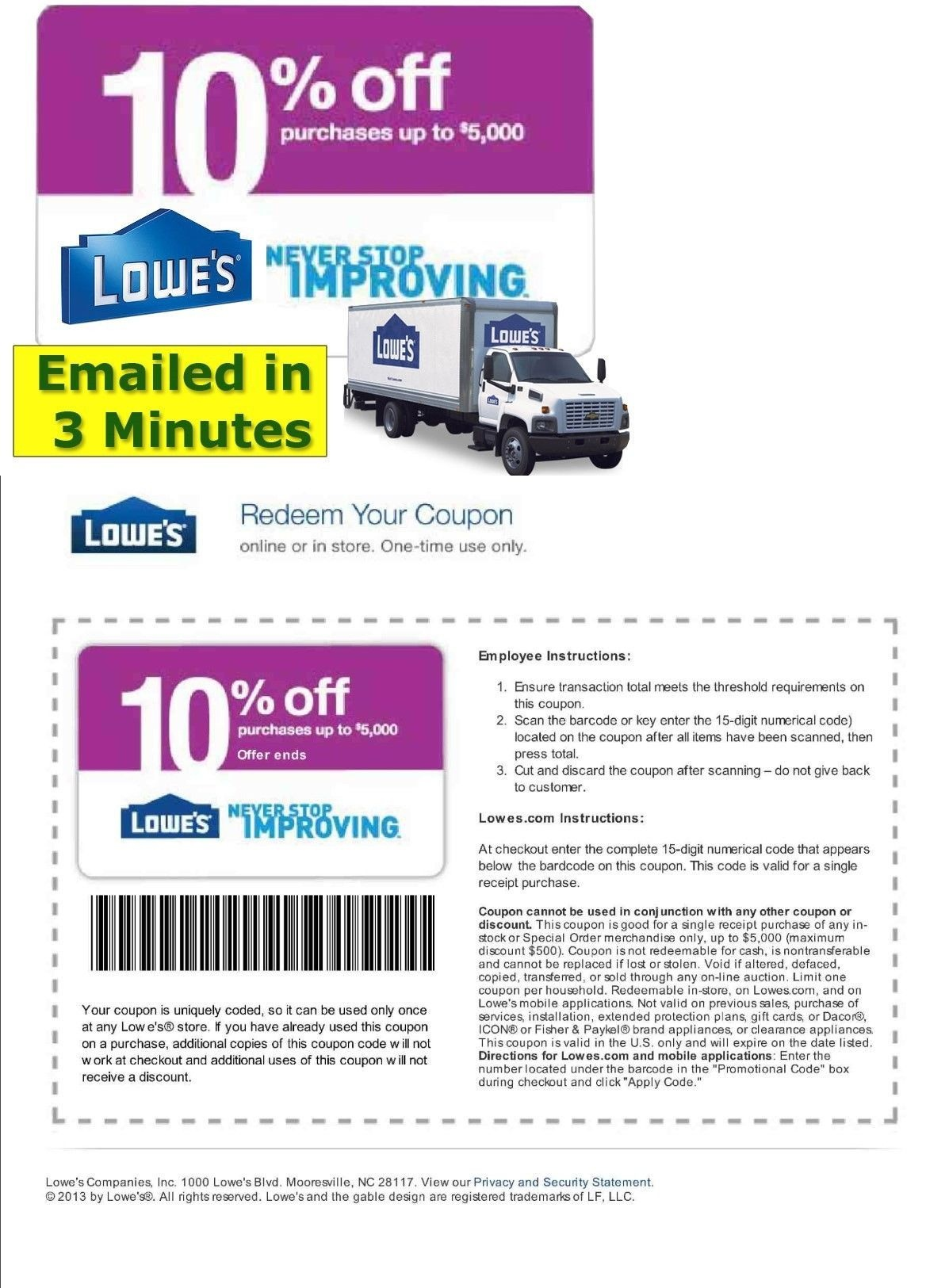 Coupons: (5X) Five Lowes 10% Off Printable-Coupon Fast Email Exp 4 - Free Printable Similac Coupons Online