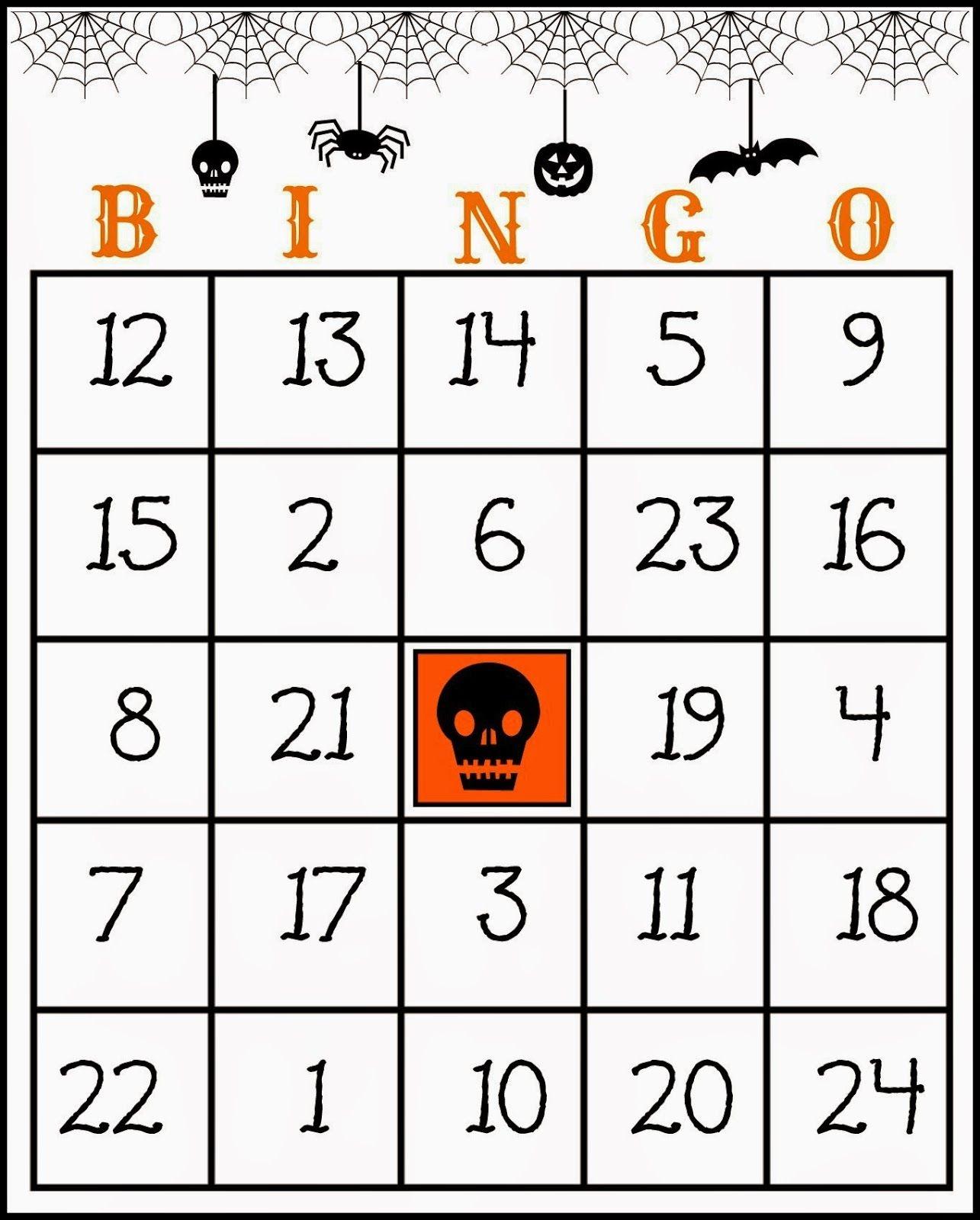 Crafty In Crosby: Free Printable Halloween Bingo Game | Halloween - Free Printable Halloween Bingo Cards