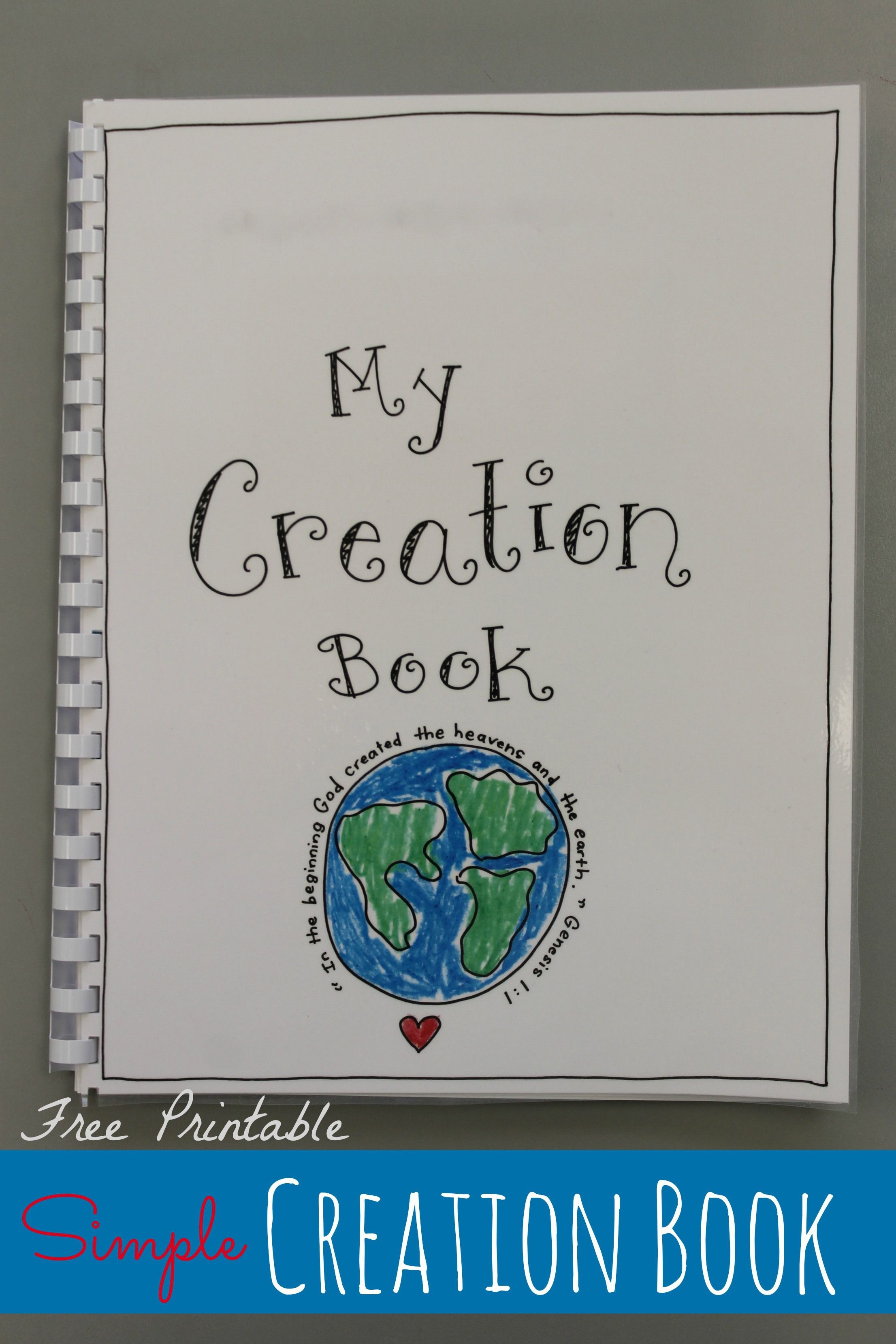 Creation Book - Free Printable | Free Printables | Preschool Bible - Free Printable Sunday School Crafts