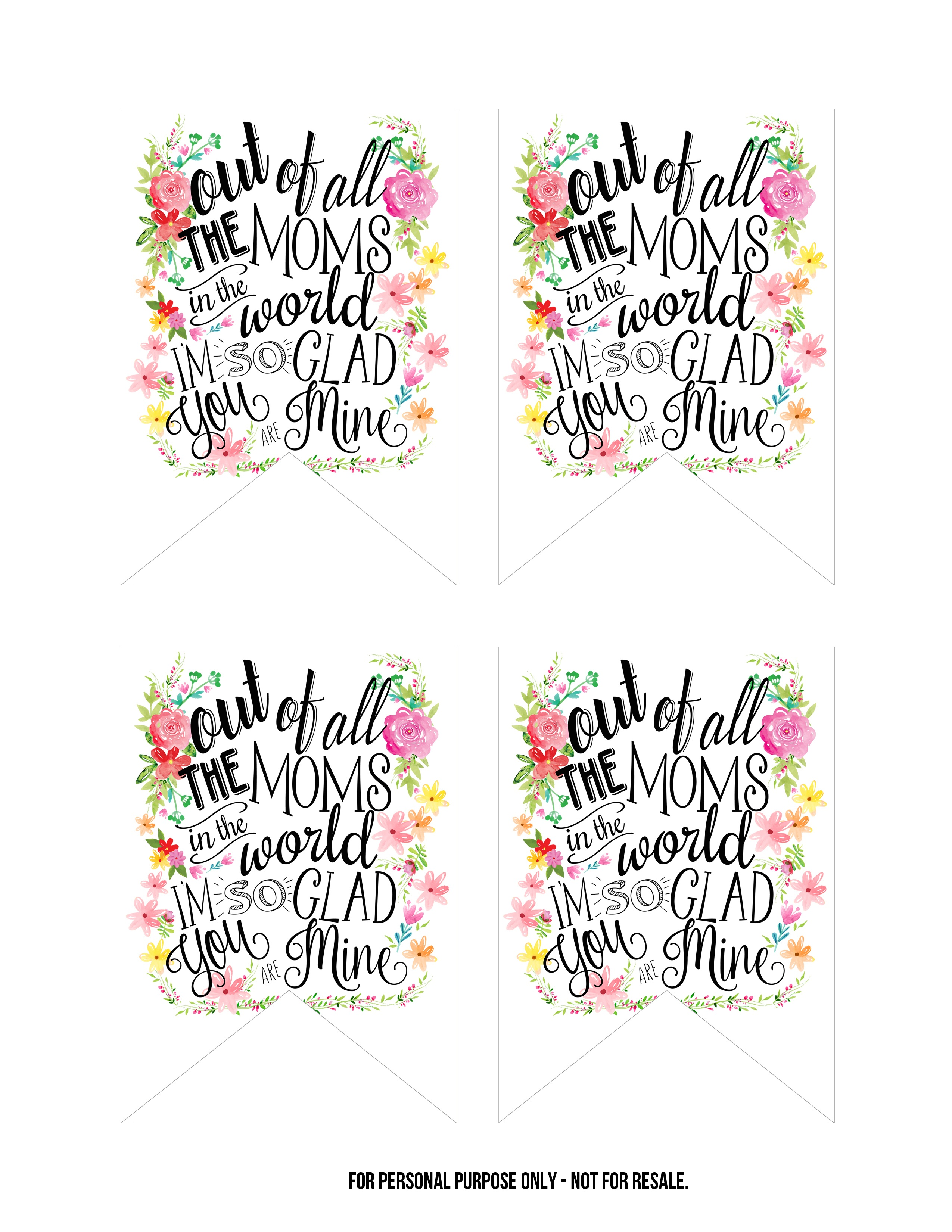 Creative Mother's Day Gifts- Tags And Wall Art Included! - Free - Free Printable Mothers Day Gifts