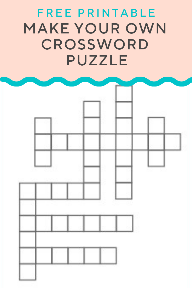 Crossword Puzzle Generator | Create And Print Fully Customizable - Make Your Own Puzzle Free Printable