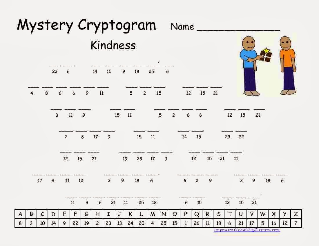 Cryptograms! | Cjrl: Kids Zone - Free Printable Cryptograms Pdf