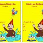 Curious George Birthday Invitations – Birthday Printable | Aiden's   Free Printable Curious George Invitations