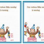 Curious George Birthday Invitations | Birthday Printable   Free Printable Curious George Invitations
