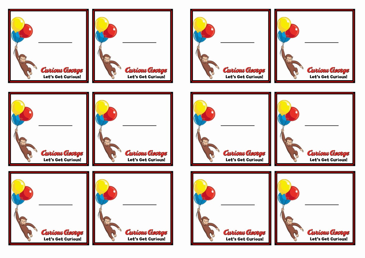 Curious George | Celebrate Your Birthday With The World's Best-Loved - Free Printable Curious George Invitations