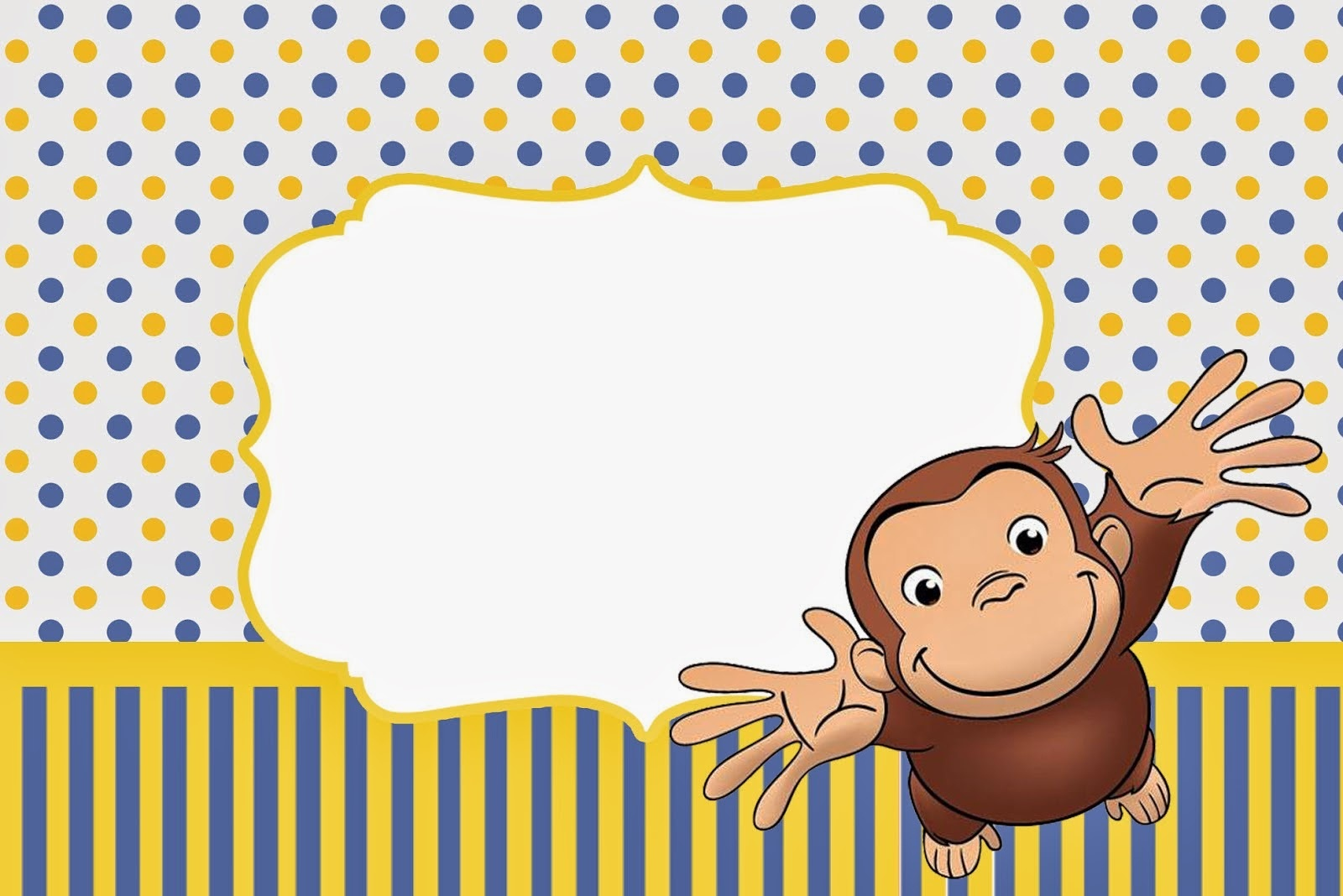 Curious George Free Printable Invitations. - Oh My Fiesta! In English - Free Printable Curious George Invitations