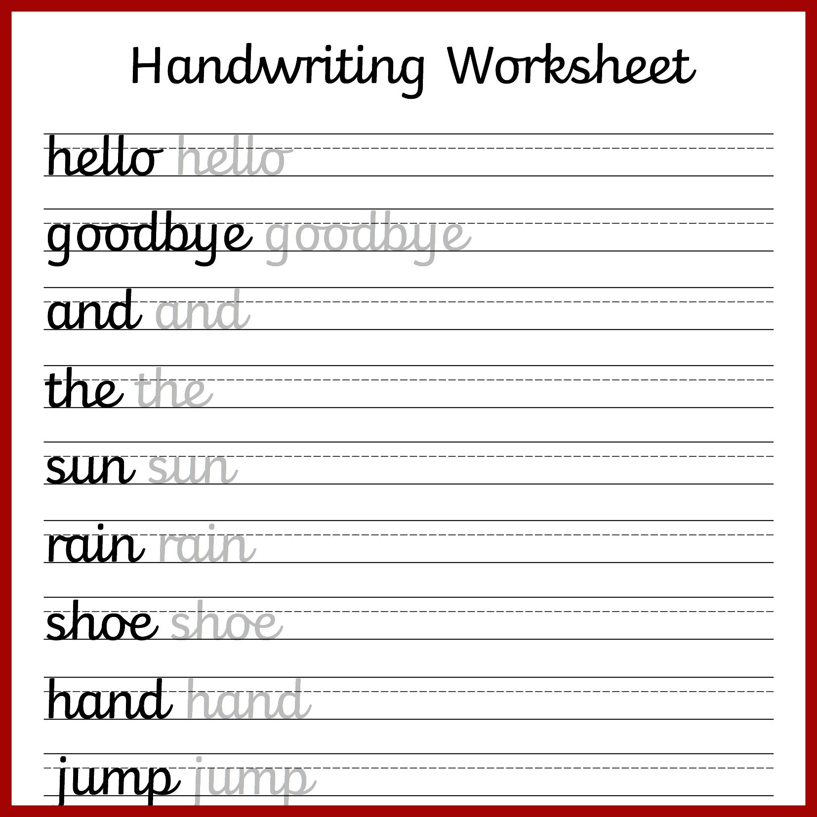 Cursive Handwriting Worksheets – Free Printable! ⋆ Mama Geek - Free Printable Cursive Practice