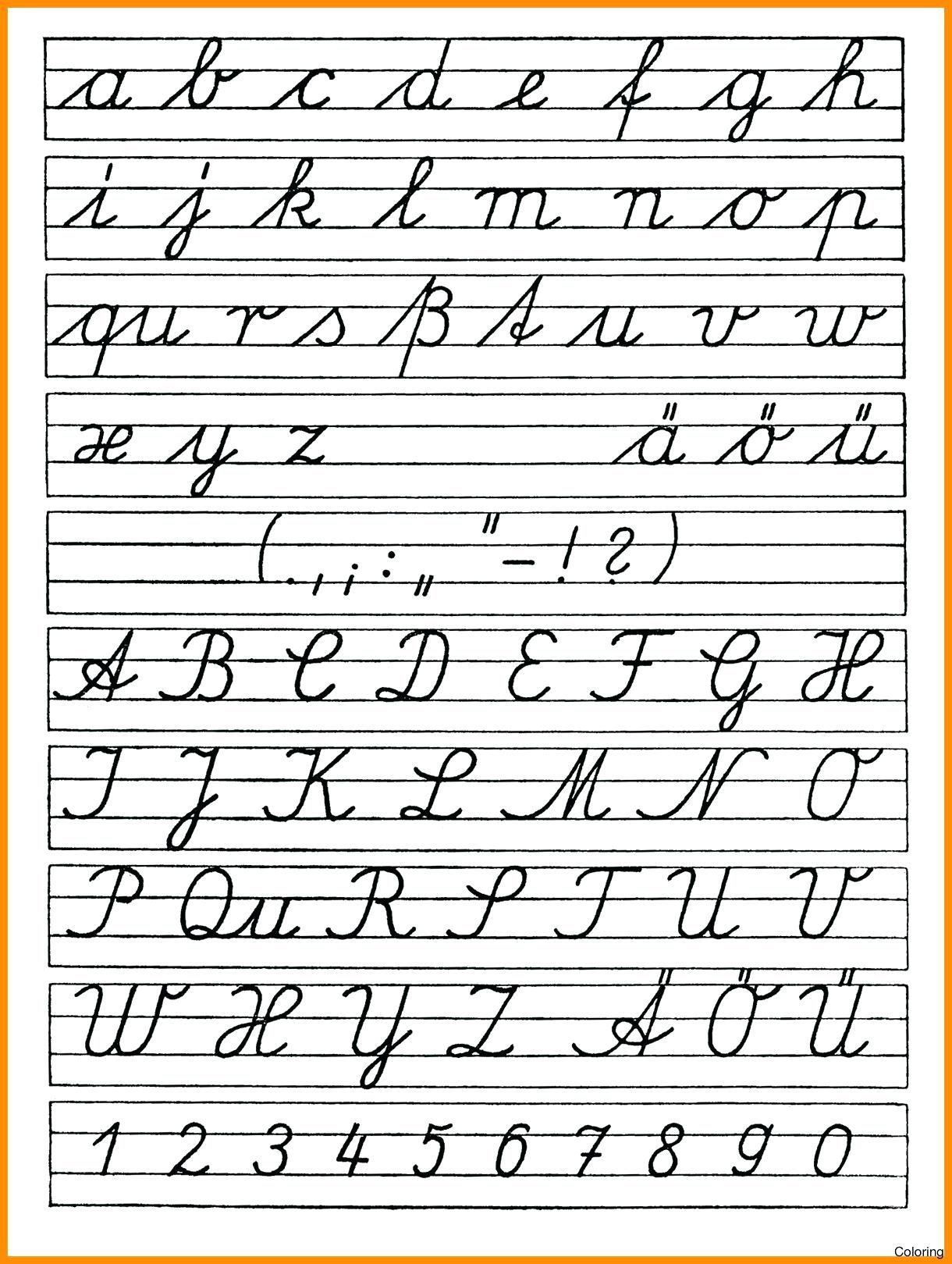 Cursive Letter Worksheet Printables Cursive Alphabet Handwriting - Free Printable Cursive Alphabet