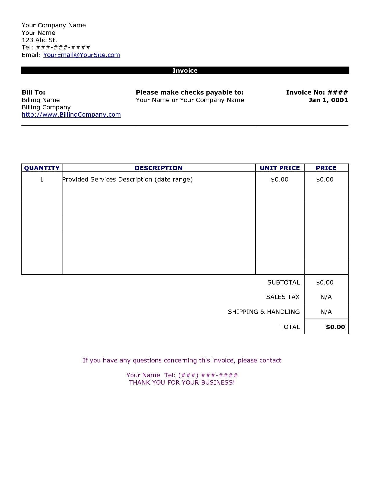 Custom Invoice Format Customizable Form Templates Customs Proforma - Invoice Templates Printable Free Word Doc
