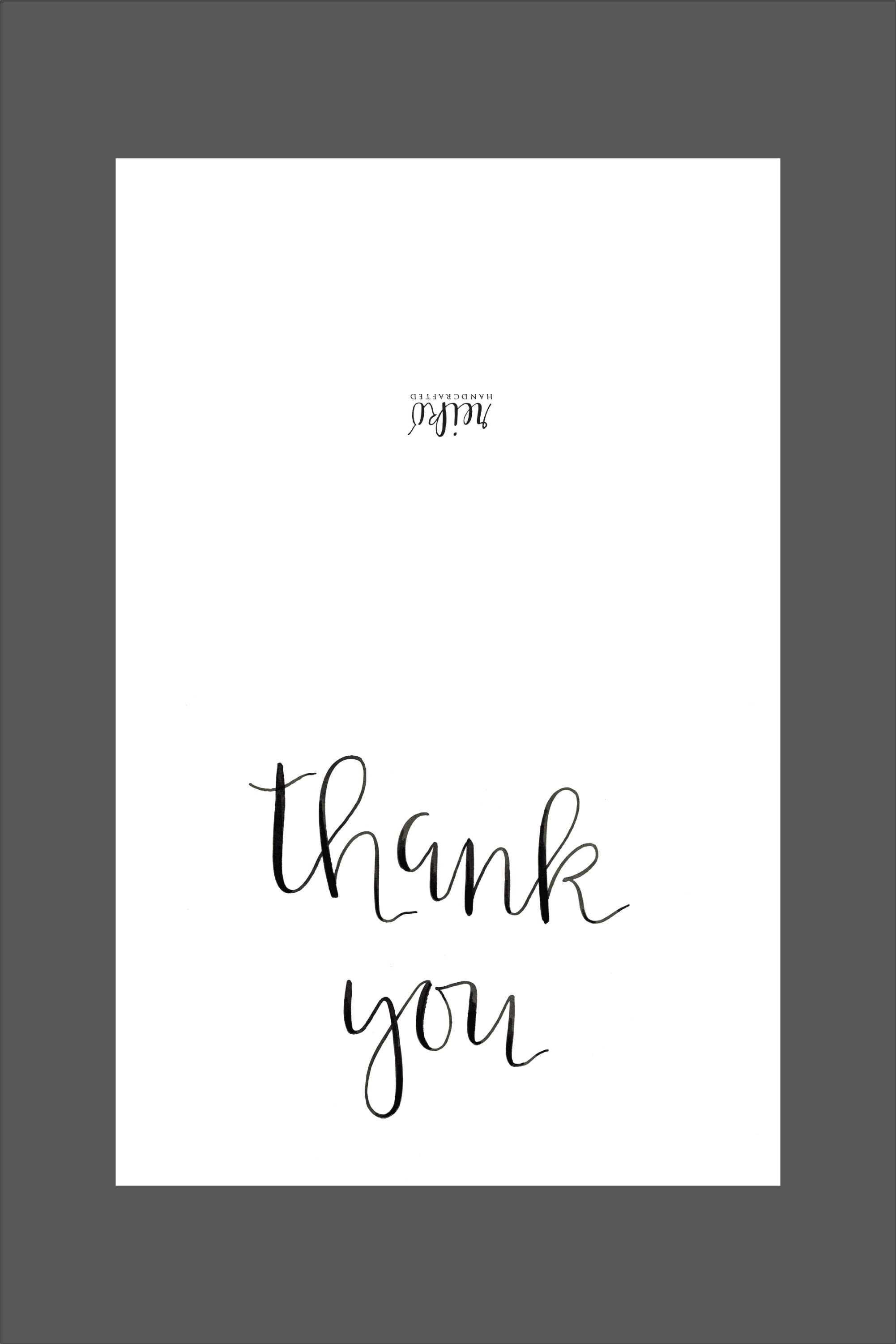 Custom, Specialty Sugar Cookies And Pastries :: Hot Hands Bakery - Free Printable Thank You Cards Black And White