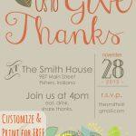 Customizable Thanksgiving Invitation | Recipe & Holiday Favorites   Free Printable Thanksgiving Invitation Templates