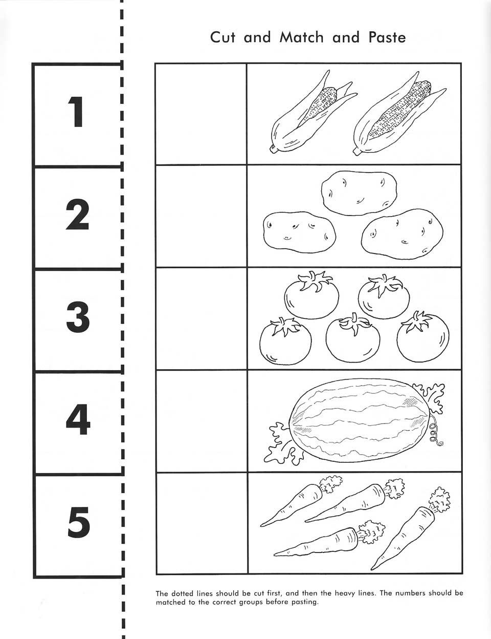 Cut, Count, Match And Paste / Free Printable | Pre-K Math - Free Printable Pre K Activities