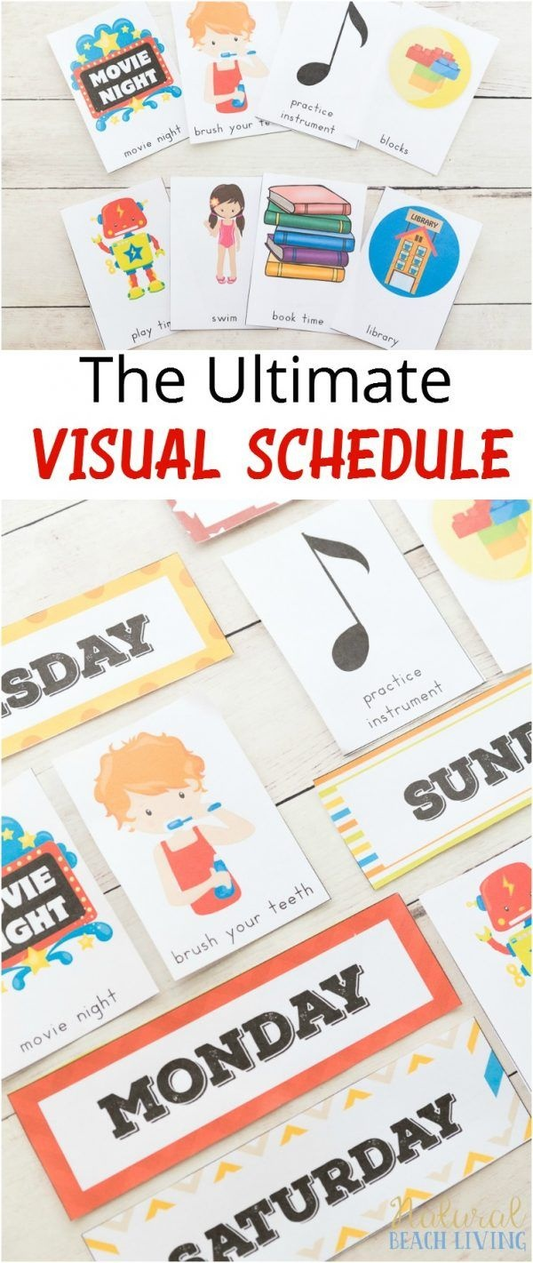 Daily Visual Schedule For Kids Free Printable | Kids Crafts And - Free Printable Schedule Cards