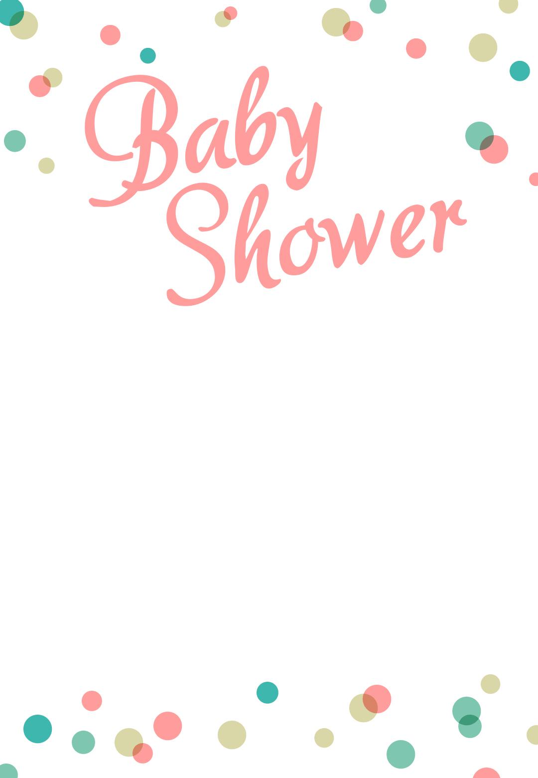 Dancing Dots Borders - Free Printable Baby Shower Invitation - Free Printable Baby Sprinkle Invitations