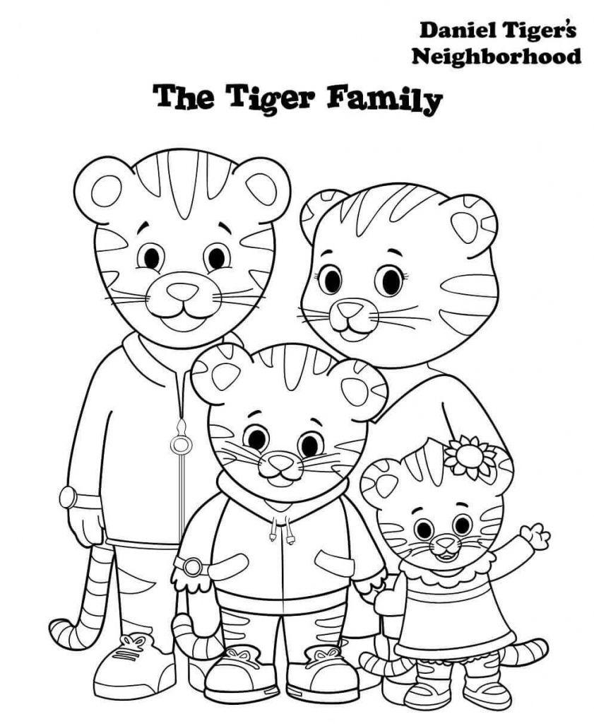 Free Printable Daniel Tiger Coloring Pages | Free Printable