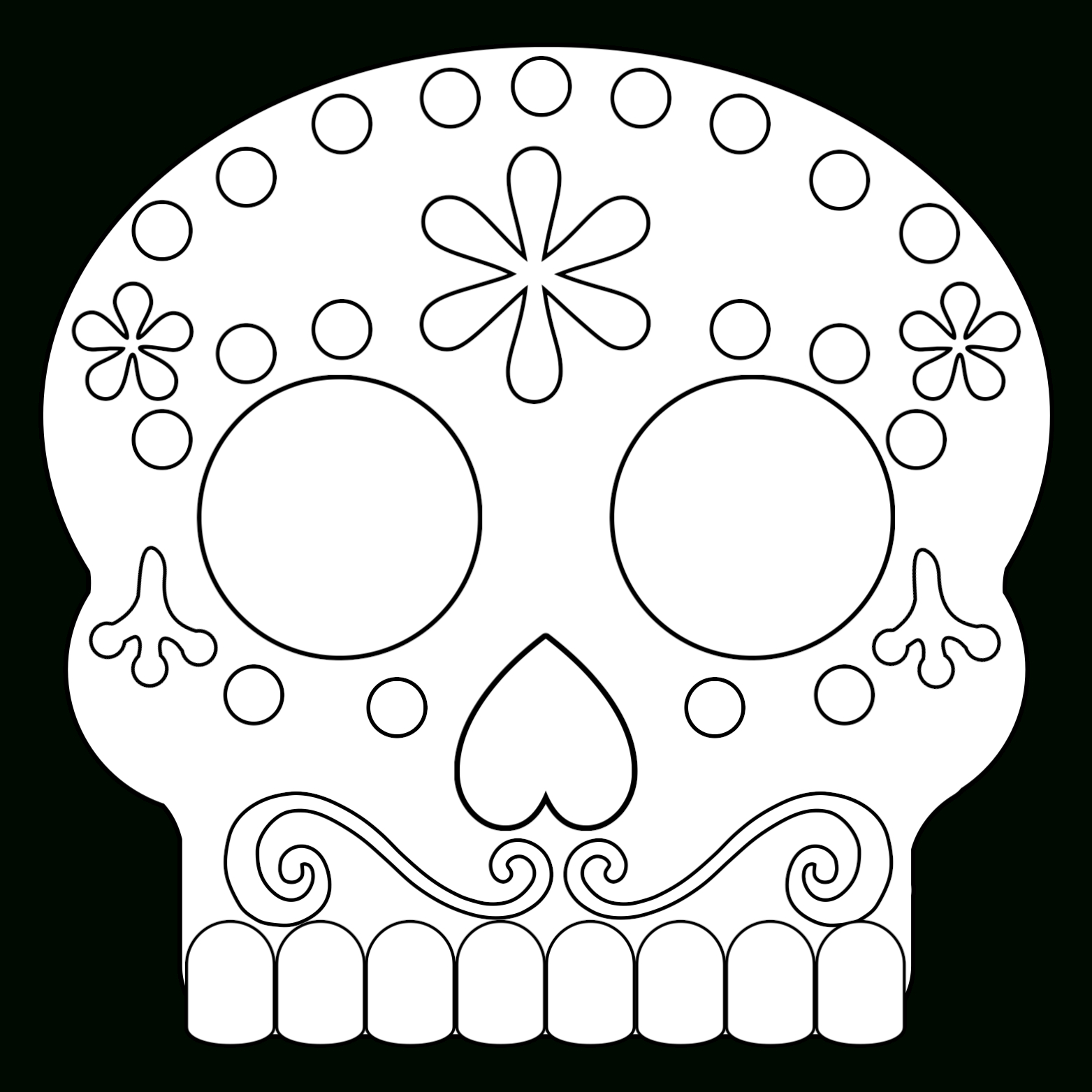 Day Of The Dead Masks Sugar Skulls Free Printable - Paper Trail Design - Free Printable Sugar Skull Day Of The Dead Mask