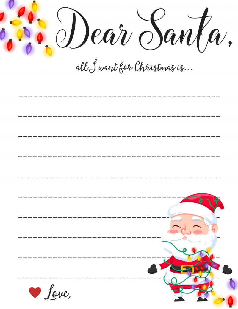 Dear Santa Letter: Free Printable Downloads - - Free Printable Letter From Santa Template