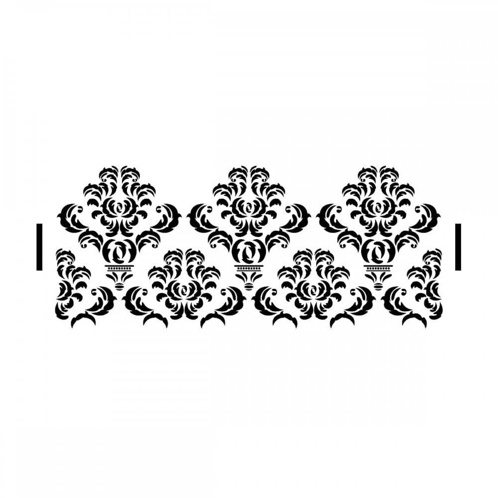 Decadent Damask Stencil  Elegant Cake Craze Cake Stencils - Free Printable Lace Stencil