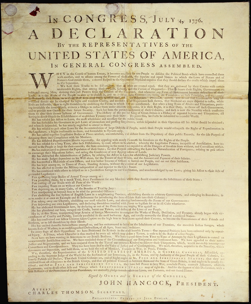 Declaration Of Independence - Teaching American History - Free Printable Copy Of The Declaration Of Independence
