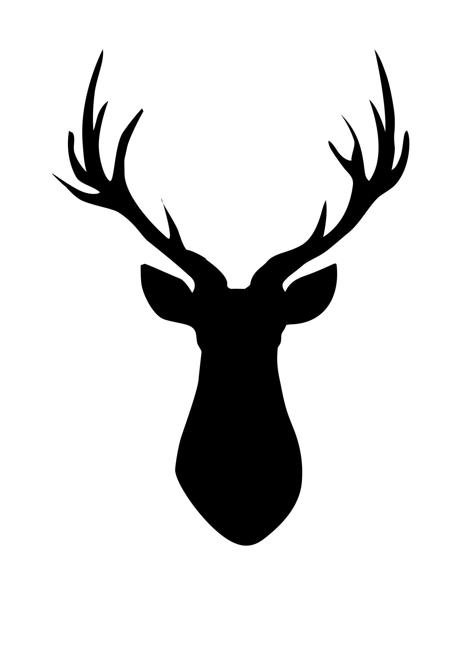 Deer Head Pallet | Cricut | Deer Silhouette, Deer Head Silhouette - Free Printable Deer Pumpkin Stencils