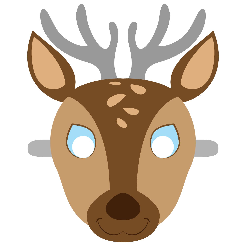 Deer Mask Template | Free Printable Papercraft Templates | Camping - Free Printable Hippo Mask