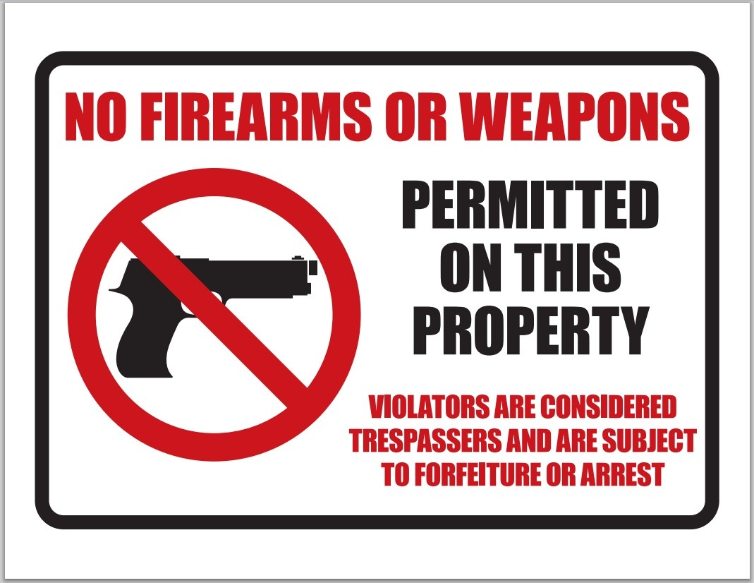 Democurmudgeon: No Firearms Or Weapons Sign Download. - Free Printable No Guns Allowed Sign