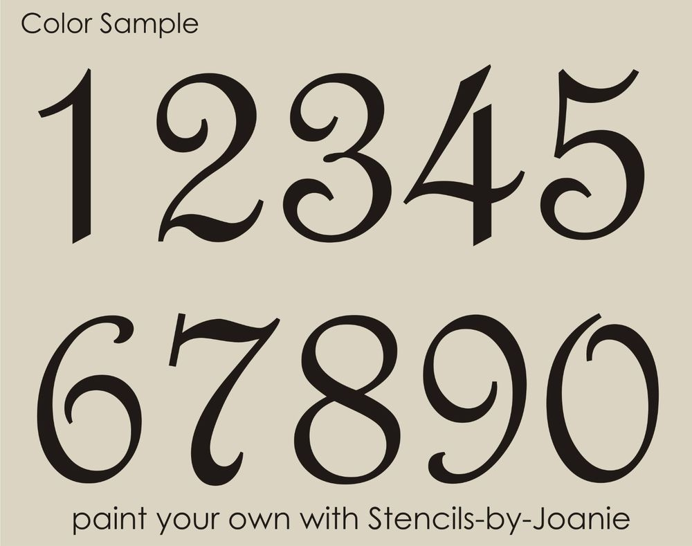 Details About Stencil Paris French Script Numbers Bride Lake House - Free Printable Fancy Number Stencils