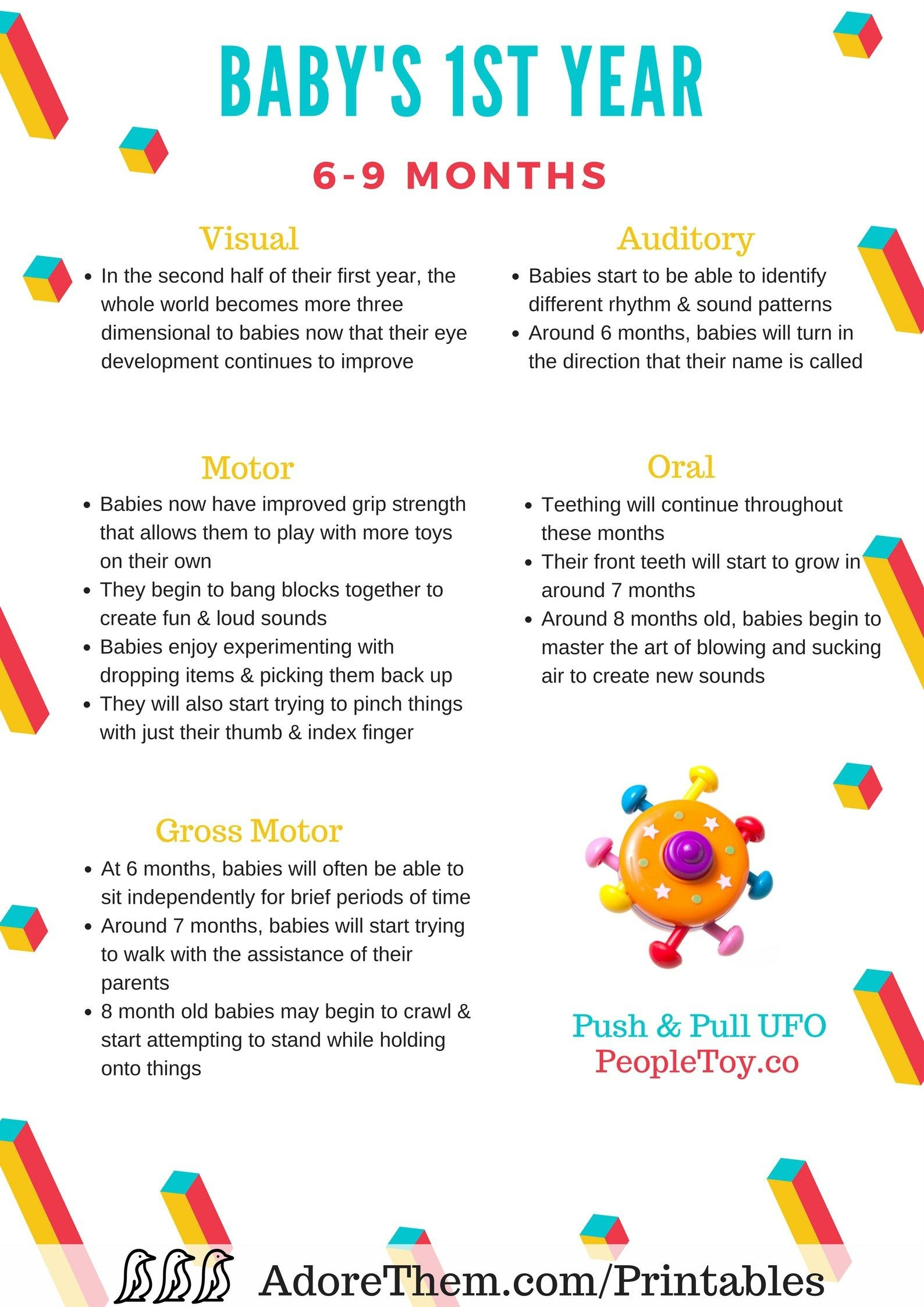 Developmental Milestones For Baby's First Year   Free Printables - Free Printable Months Of The Year Chart