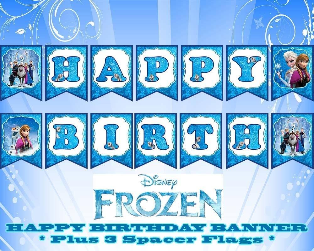 Disney Frozen Happy Birthday Banner   Birthday In 2019   Frozen - Frozen Happy Birthday Banner Free Printable